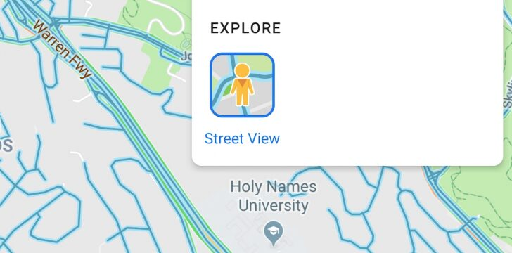 Google Maps on Android now has a Street View layer