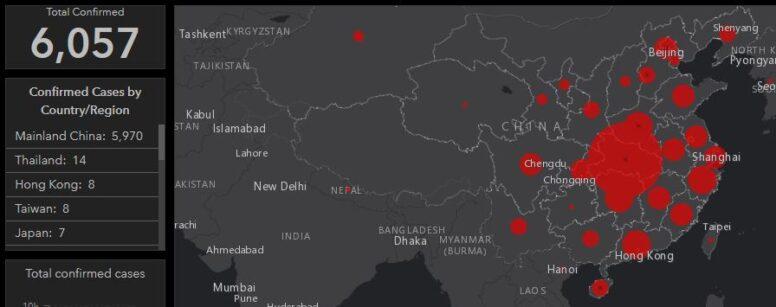 coronavirus confirmed cases map
