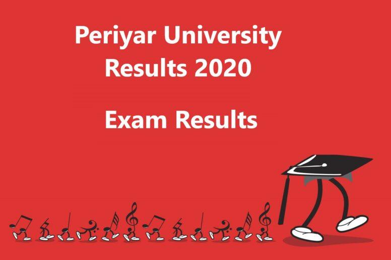 Periyar University Exam Results 2019