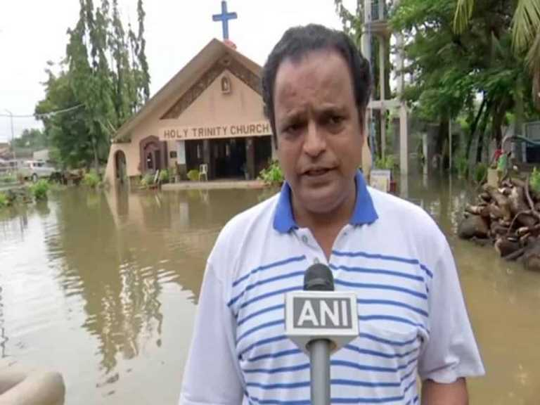 Heavy rains cause water logging at City's Holy Trinity Church
