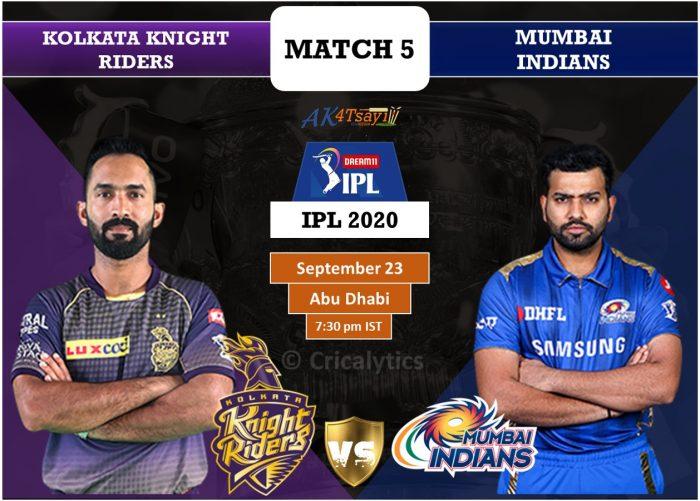 KKR vs MI Predicted Playing 11, IPL 2020: Choose captain, vice-captain for Kolkata vs Mumbai