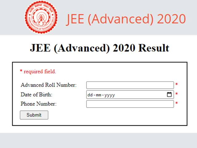 JEE: JEE Advanced results declared, two Telugu's listed in CRL